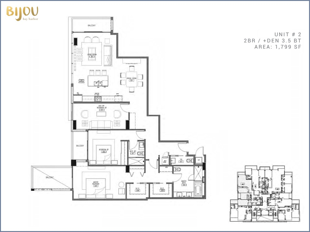 Bijou Bay Harbor - Floorplan 3