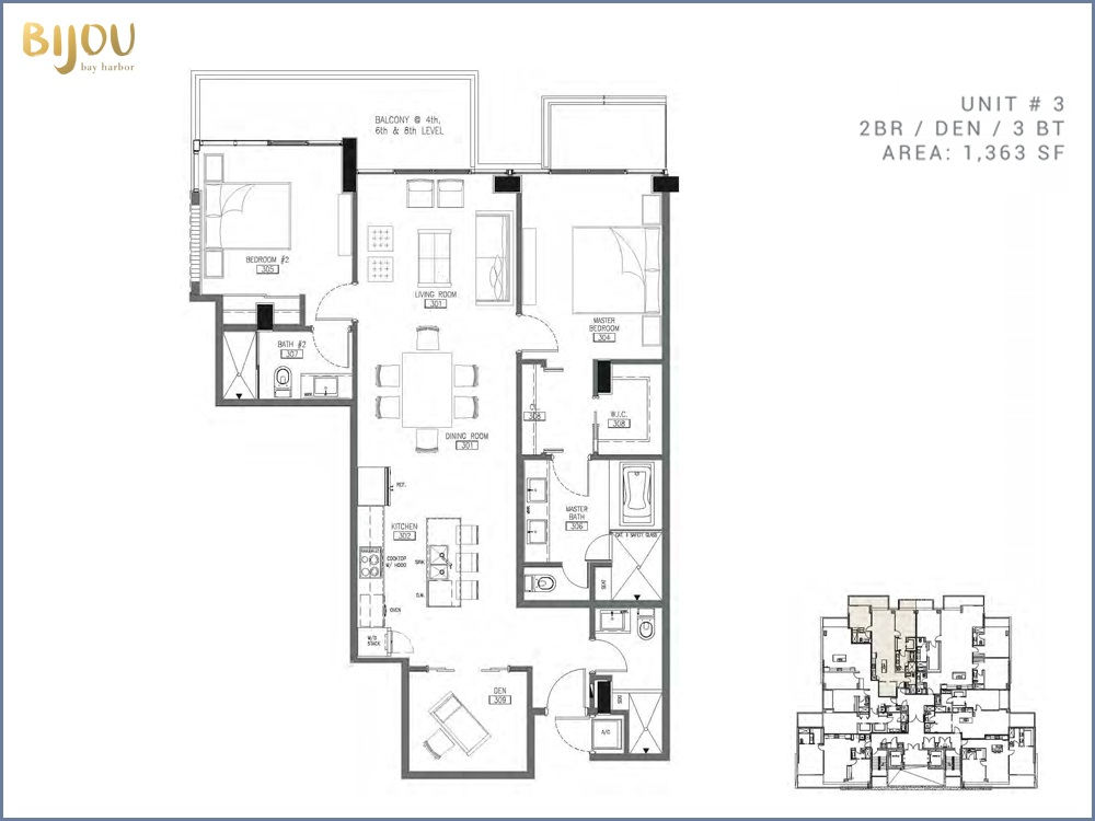 Bijou Bay Harbor - Floorplan 6