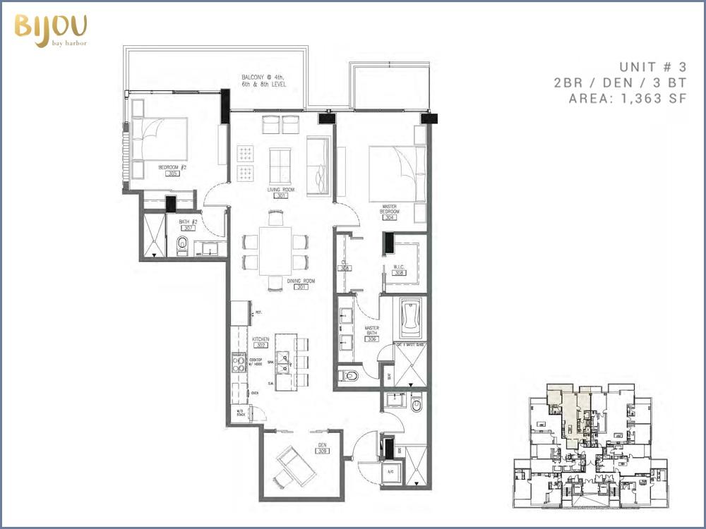 Bijou Bay Harbor - Floorplan 6