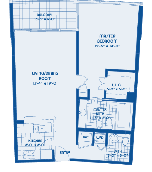 Blue - Floorplan 1