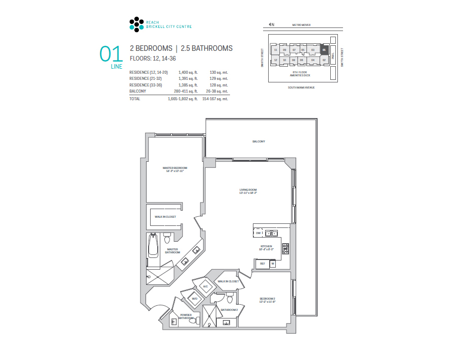 Brickell City Centre Reach - Floorplan 1