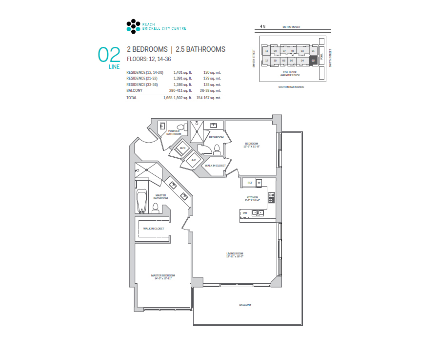 Brickell City Centre Reach - Floorplan 2