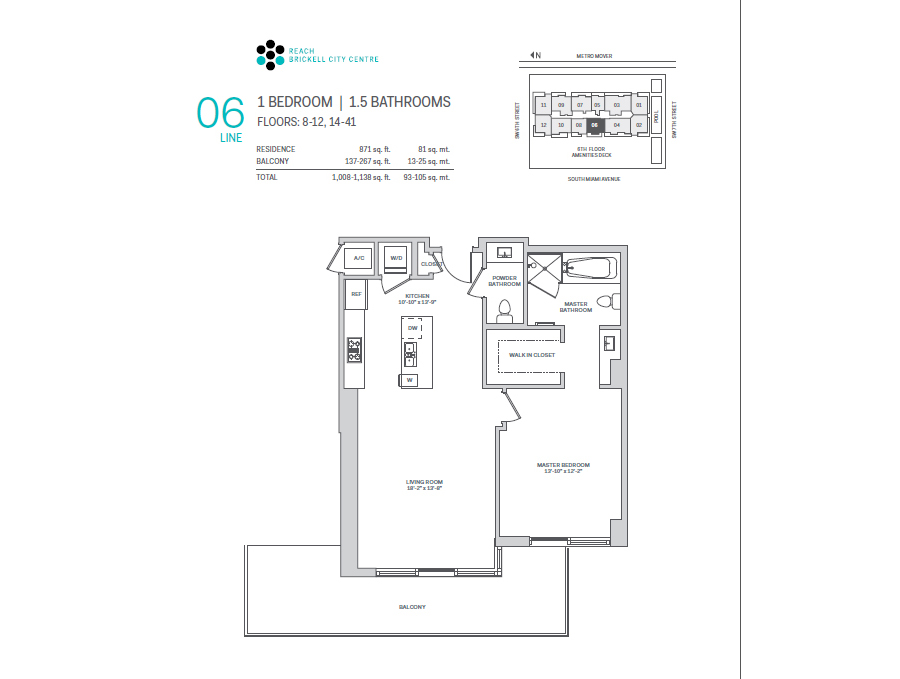 Brickell City Centre Reach - Floorplan 3