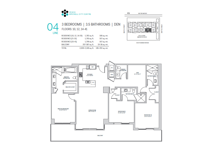 Brickell City Centre Reach - Floorplan 4