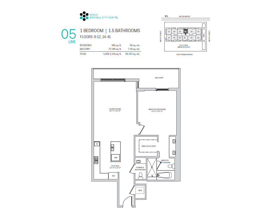 Brickell City Centre Reach - Floorplan 5