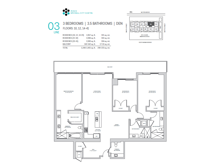 Brickell City Centre Reach - Floorplan 6