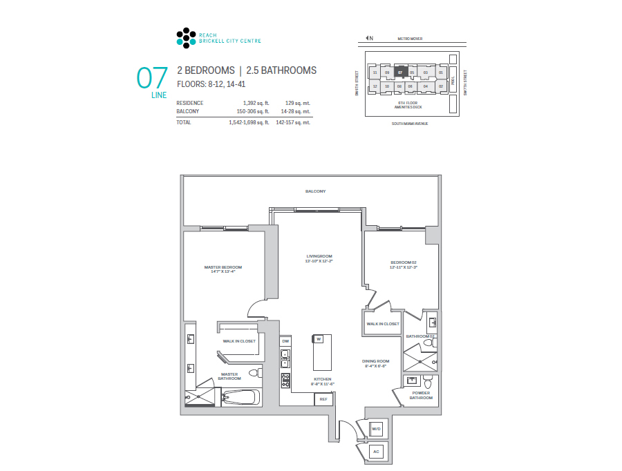 Brickell City Centre Reach - Floorplan 7