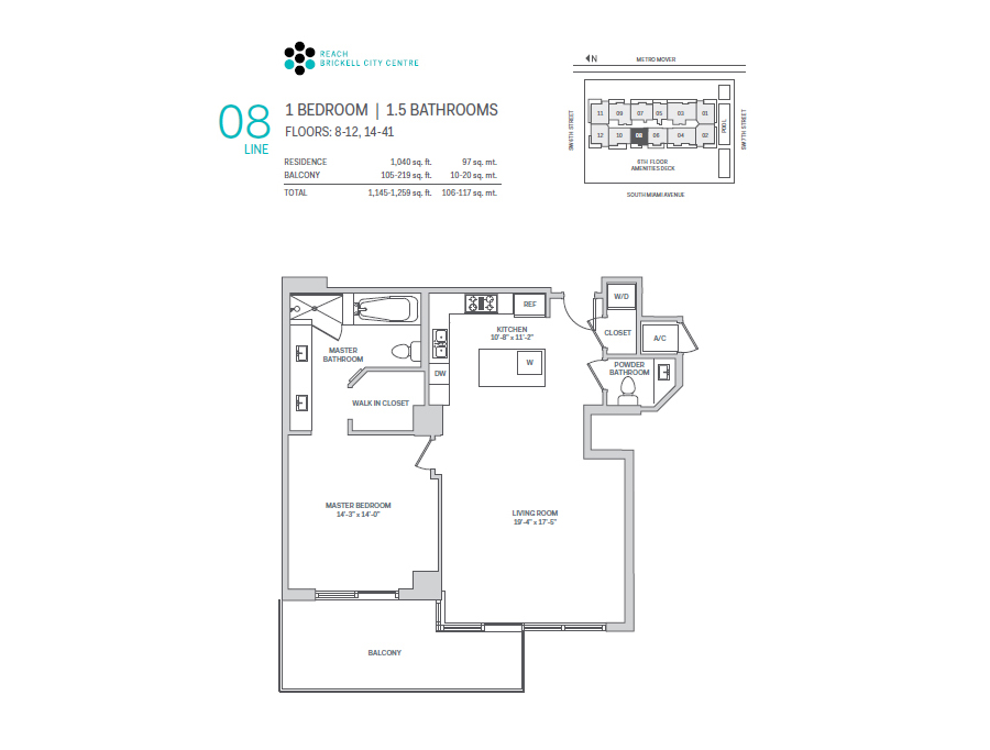 Brickell City Centre Reach - Floorplan 8