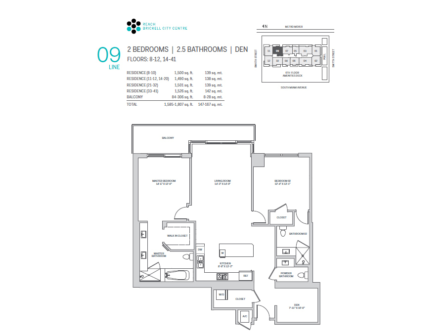 Brickell City Centre Reach - Floorplan 9