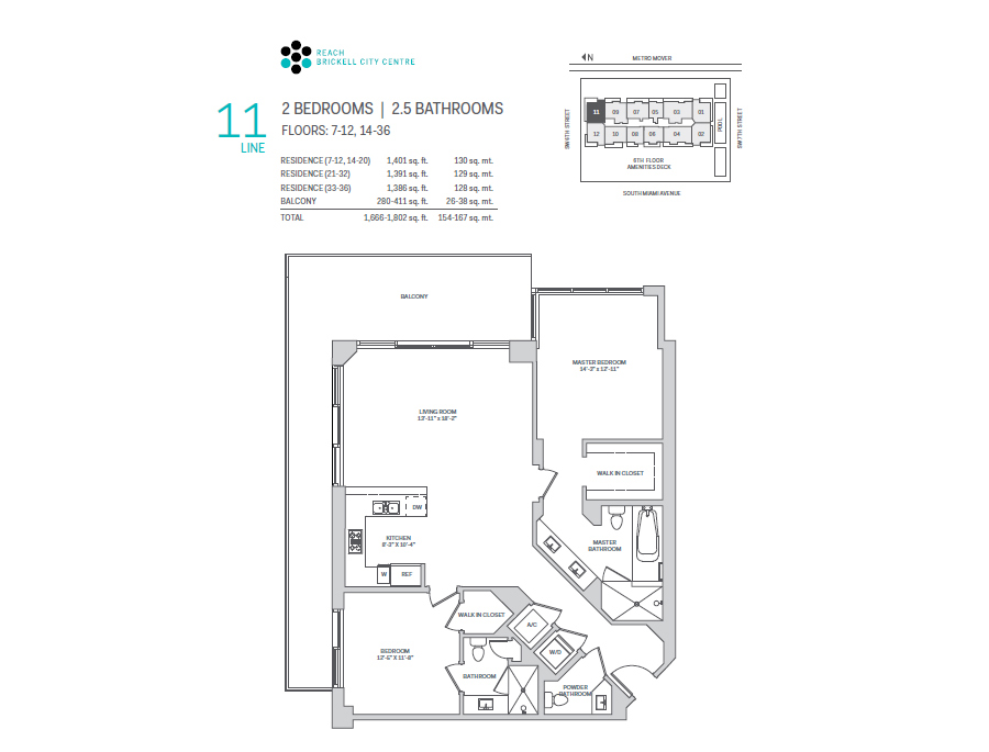 Brickell City Centre Reach - Floorplan 10