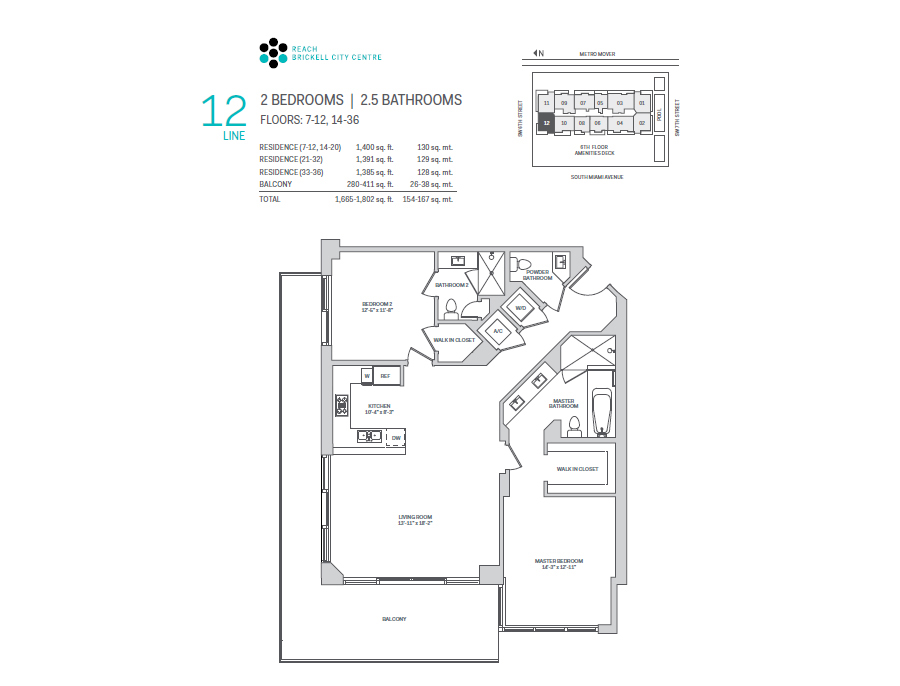 Brickell City Centre Reach - Floorplan 12