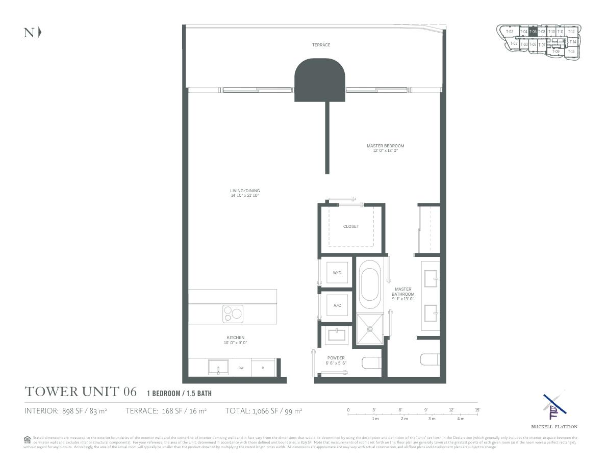 Brickell Flatiron - Floorplan 1