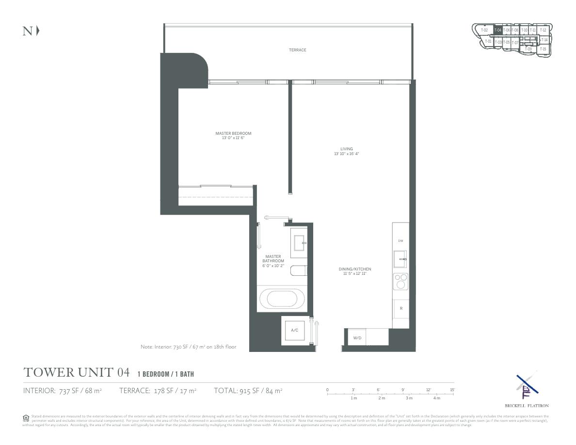 Brickell Flatiron - Floorplan 2