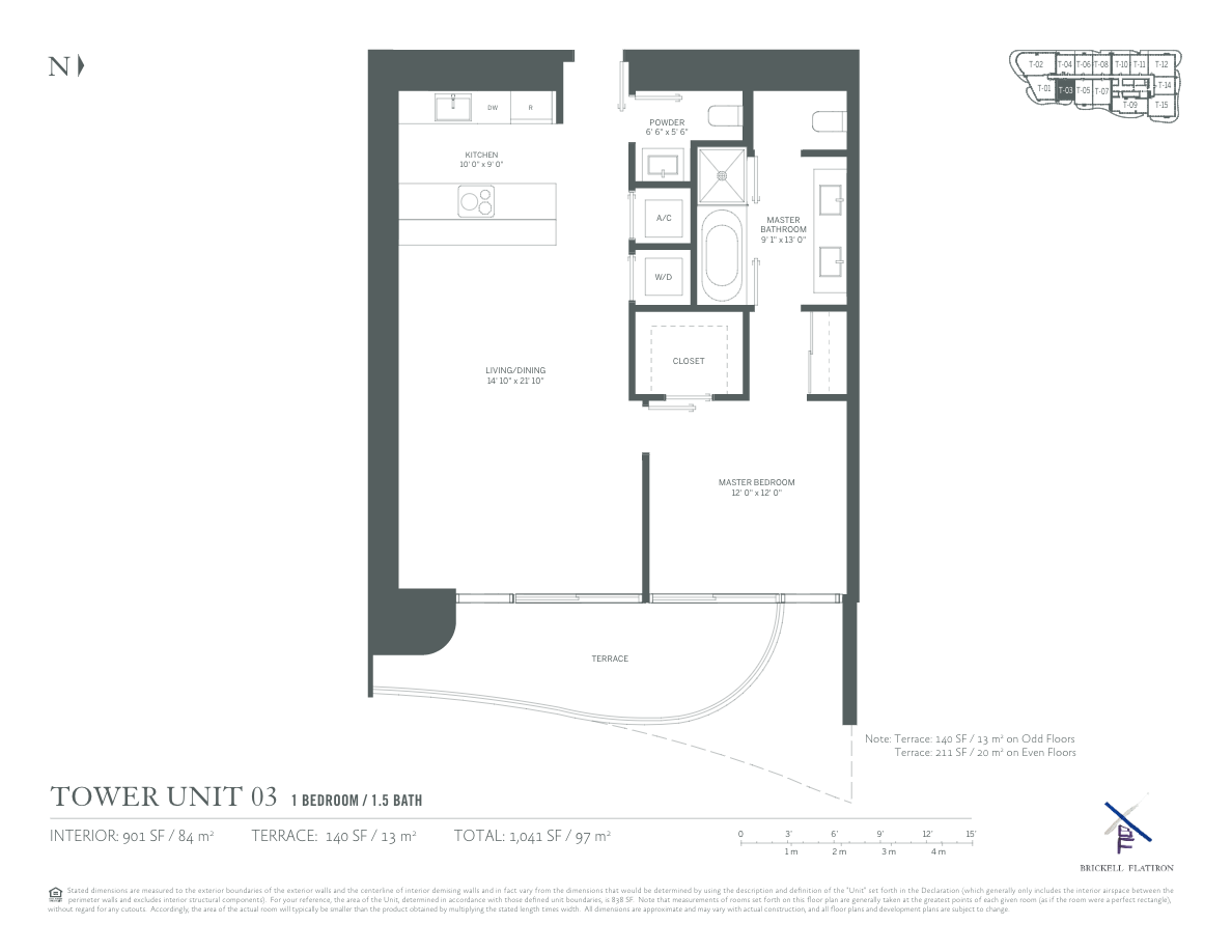 Brickell Flatiron - Floorplan 3