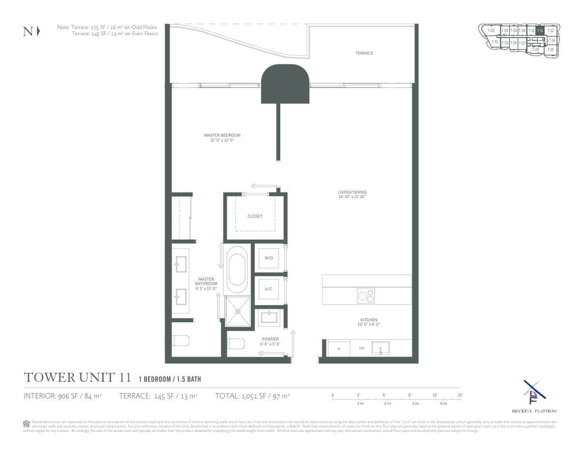 Brickell Flatiron - Floorplan 4