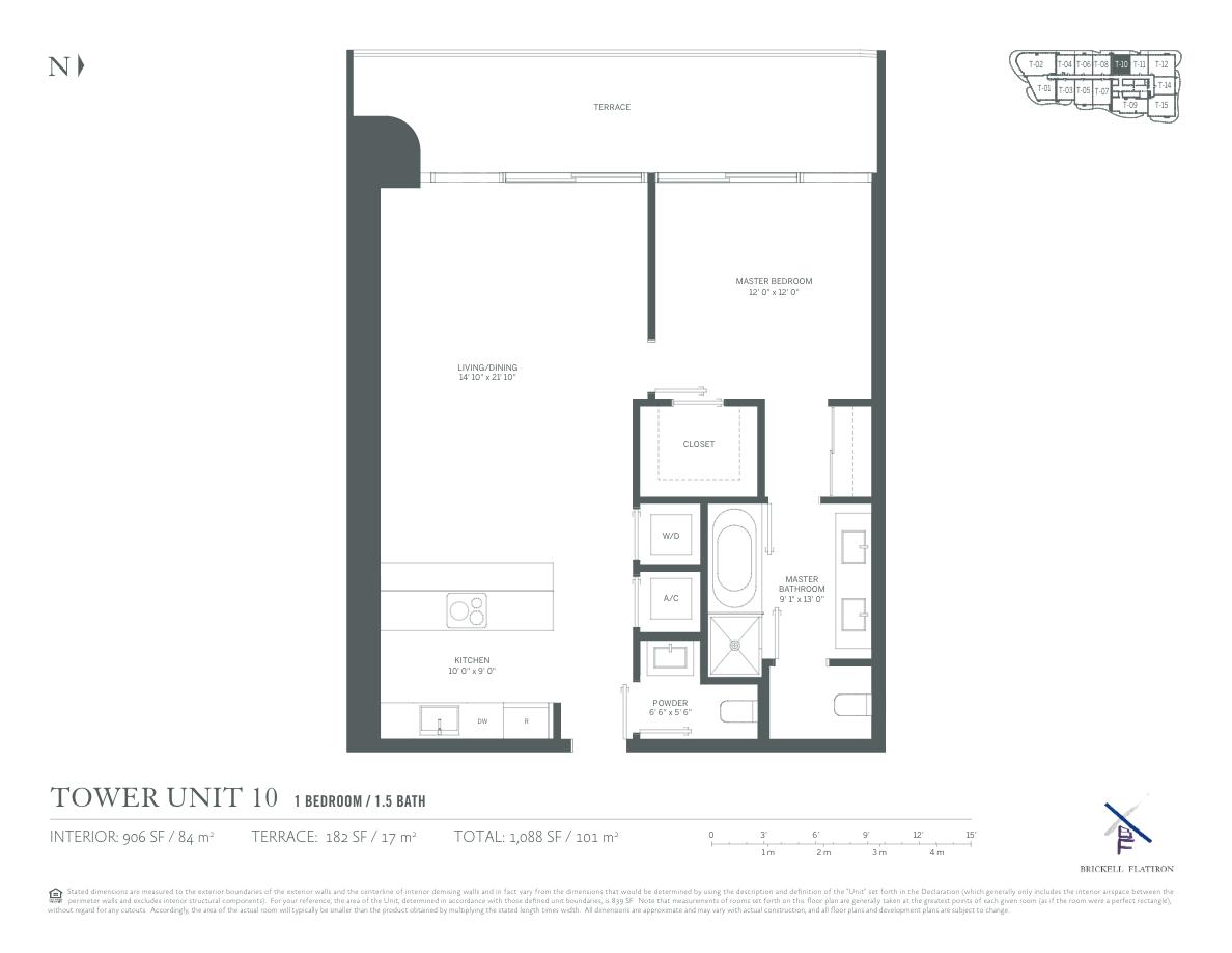 Brickell Flatiron - Floorplan 5