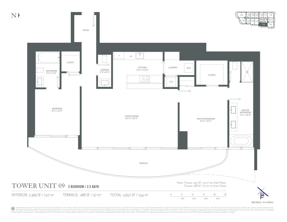 Brickell Flatiron - Floorplan 6