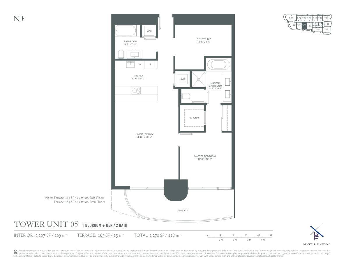 Brickell Flatiron - Floorplan 9