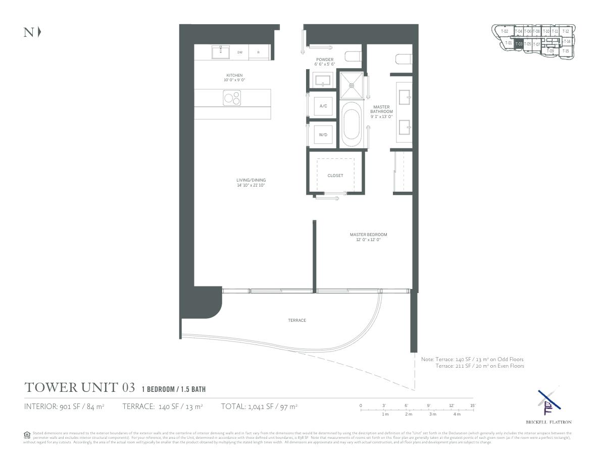 Brickell Flatiron - Floorplan 11