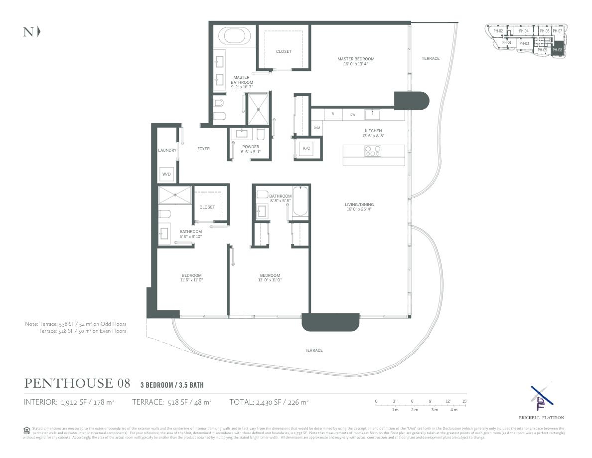 Brickell Flatiron - Floorplan 13