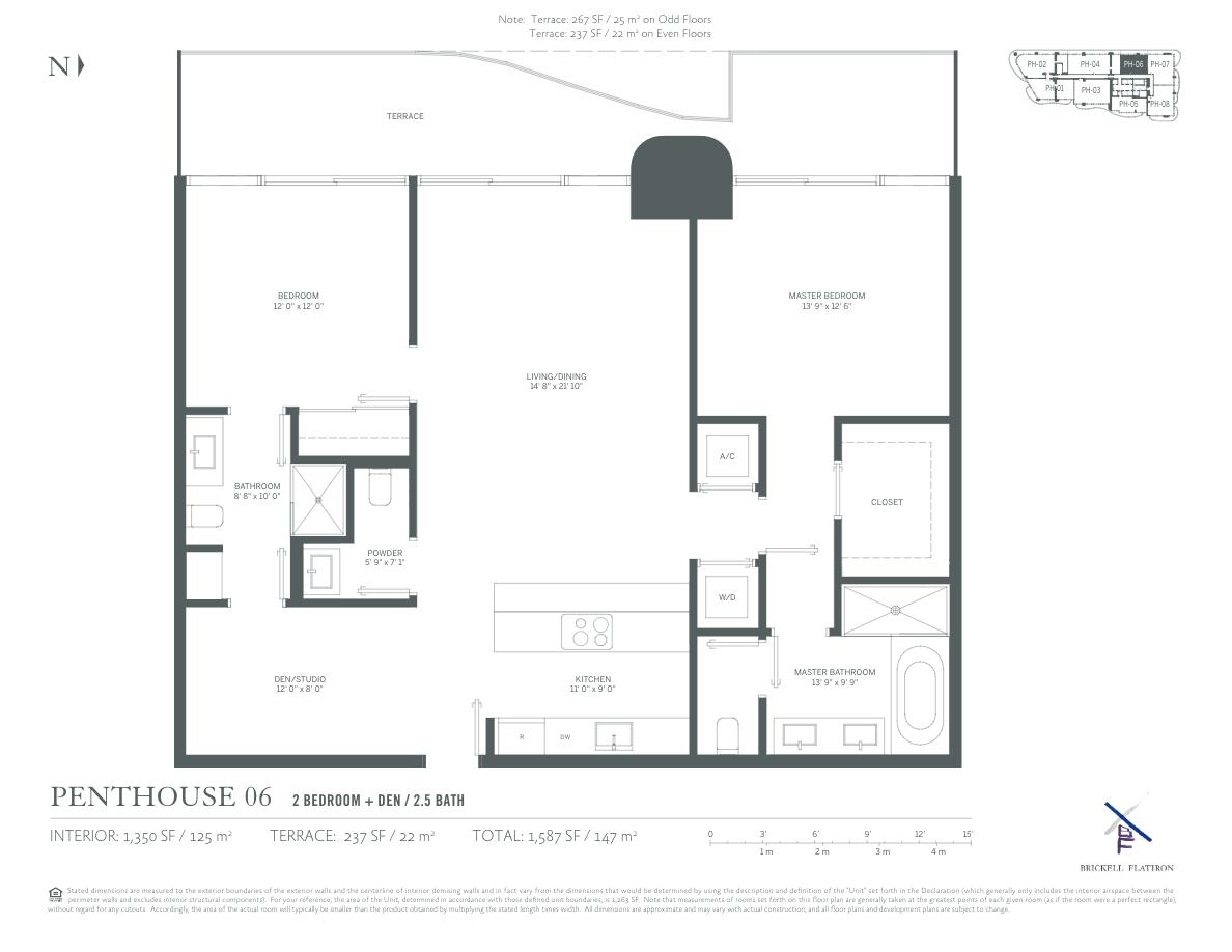 Brickell Flatiron - Floorplan 14