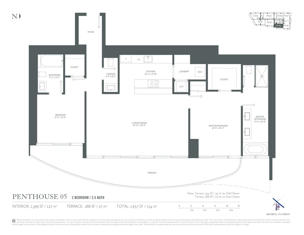 Brickell Flatiron - Floorplan 15