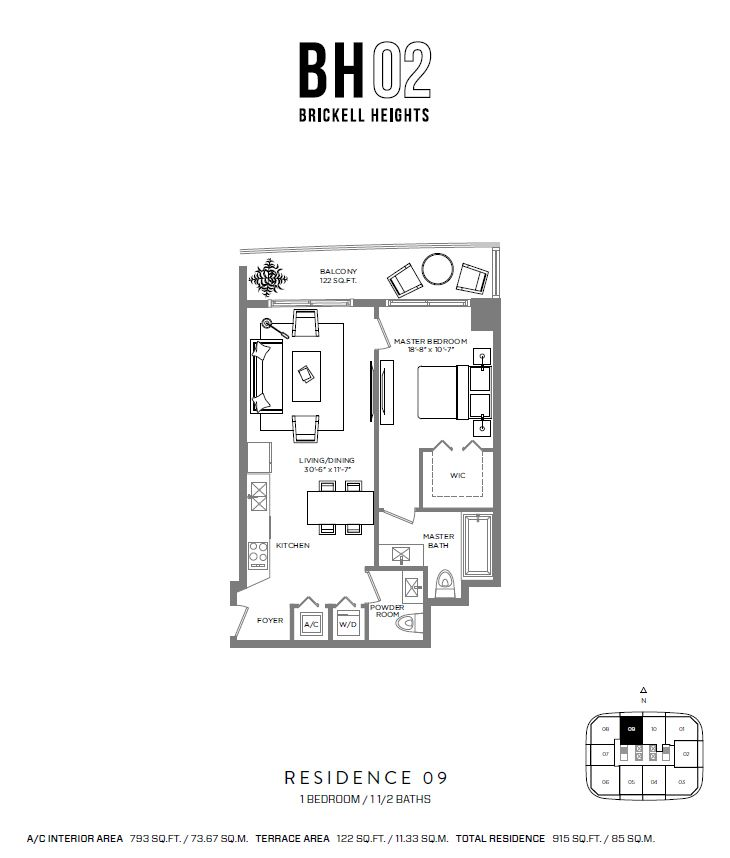 Brickell Heights - Floorplan 9