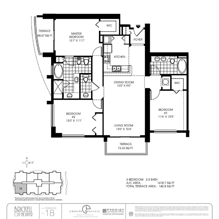 Brickell On The River N - Floorplan 1