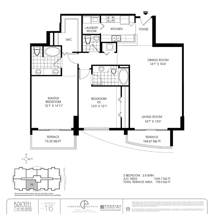 Brickell On The River N - Floorplan 2
