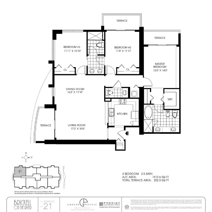 Brickell On The River N - Floorplan 3