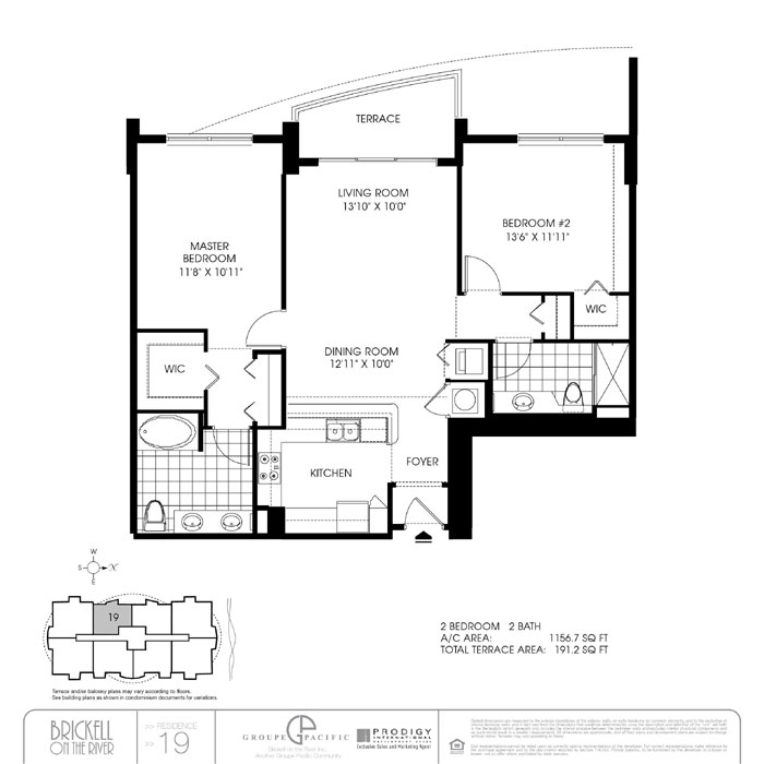 Brickell On The River N - Floorplan 4