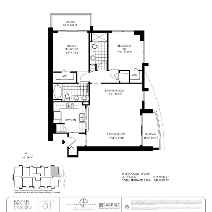 Brickell On The River S - Floorplan 1