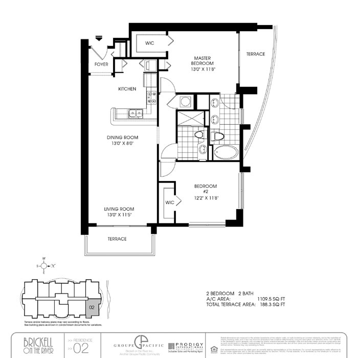 Brickell On The River S - Floorplan 3