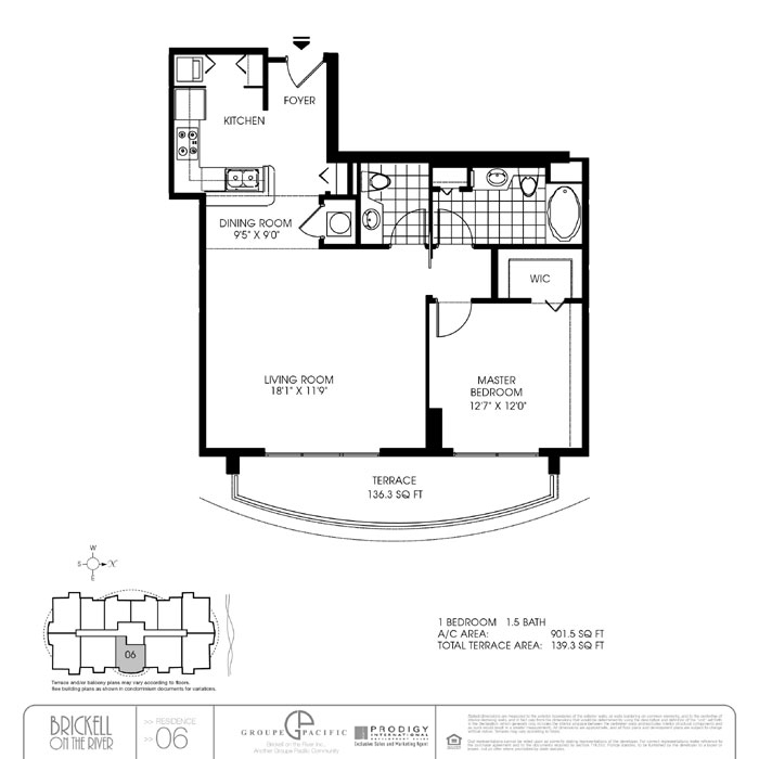 Brickell On The River S - Floorplan 4