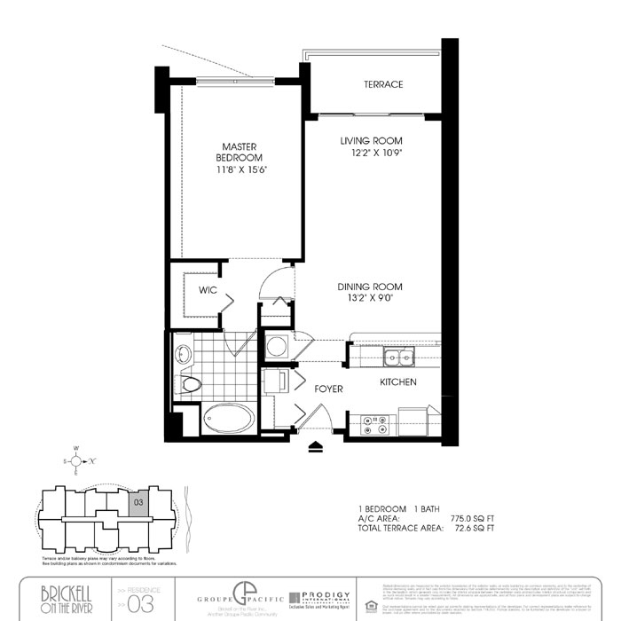Brickell On The River S - Floorplan 5