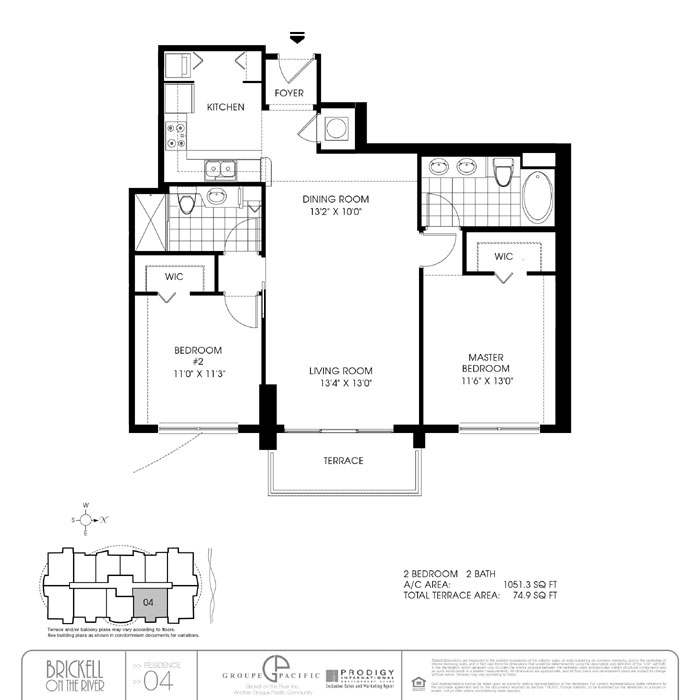 Brickell On The River S - Floorplan 6