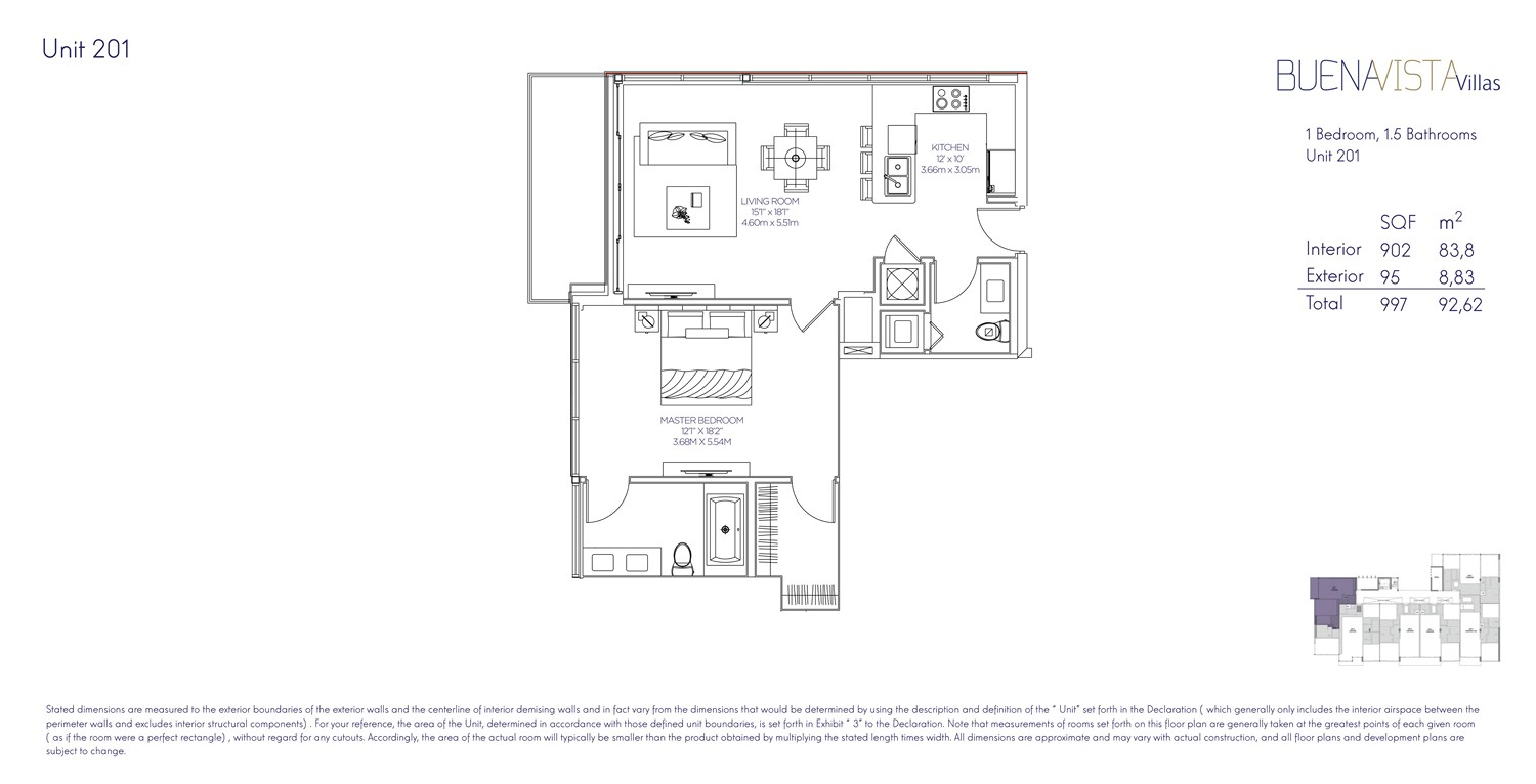 Buena Vista Villas - Floorplan 1