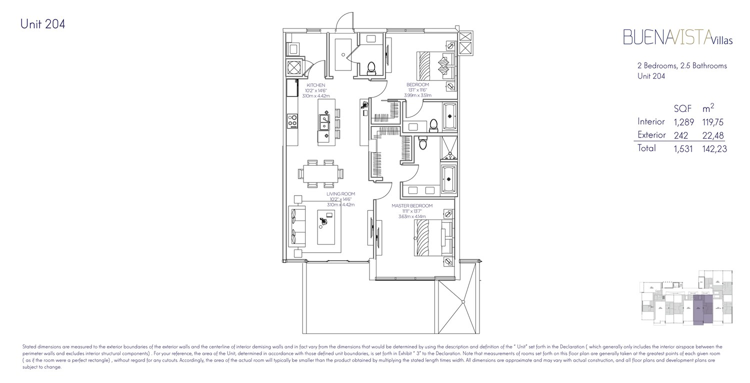 Buena Vista Villas - Floorplan 4