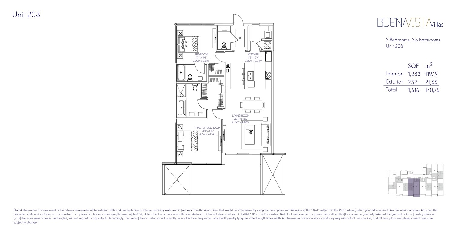 Buena Vista Villas - Floorplan 3