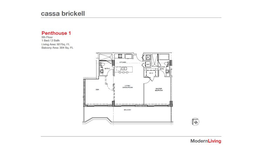 Cassa Brickell - Floorplan 1