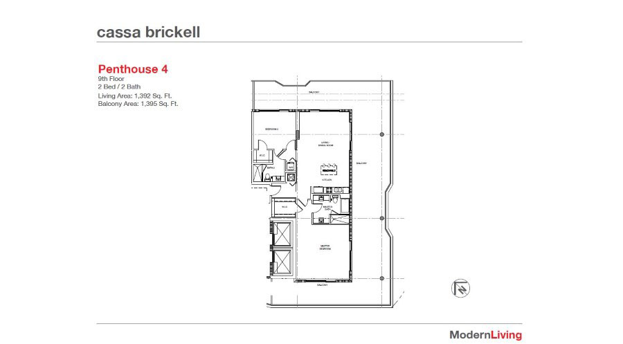 Cassa Brickell - Floorplan 2