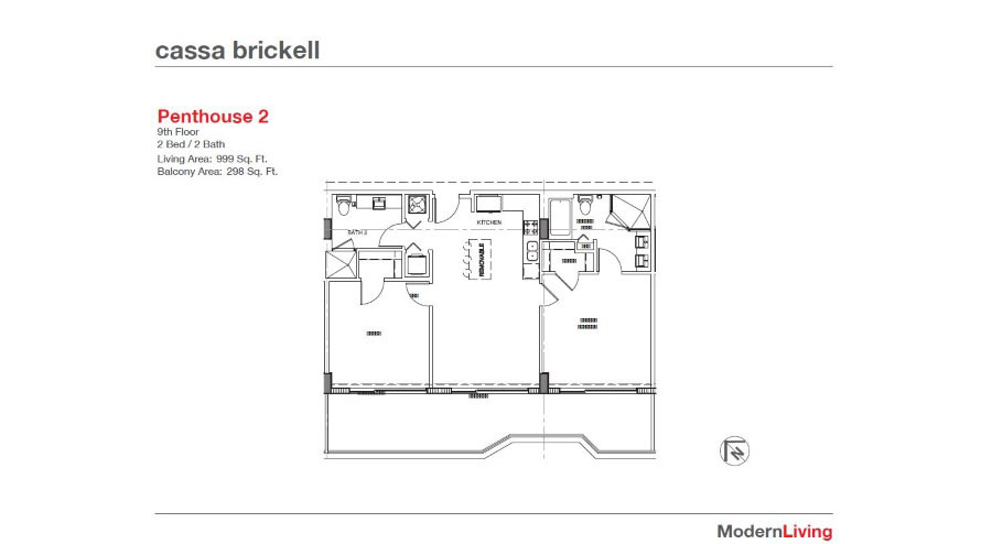 Cassa Brickell - Floorplan 3