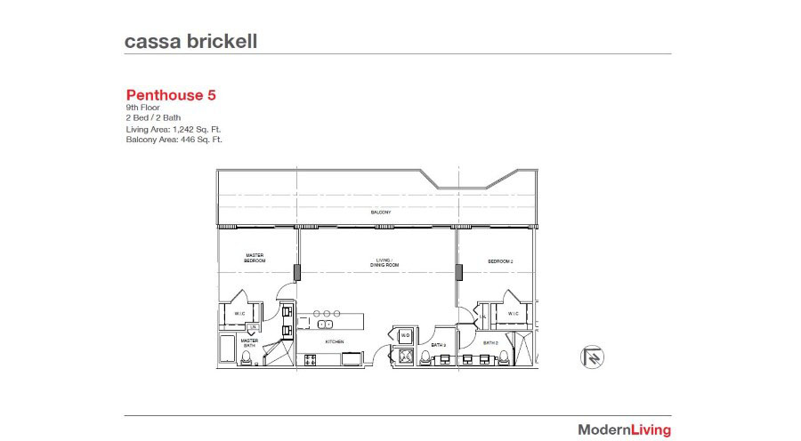 Cassa Brickell - Floorplan 4