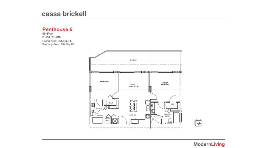 Cassa Brickell - Floorplan 5