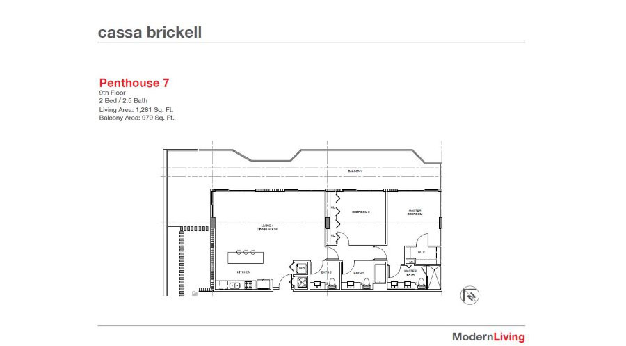 Cassa Brickell - Floorplan 6