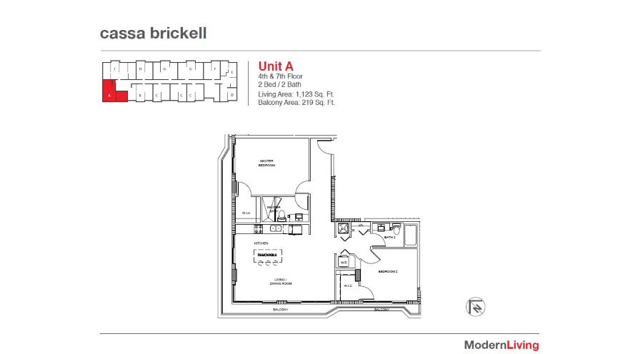 Cassa Brickell - Floorplan 7