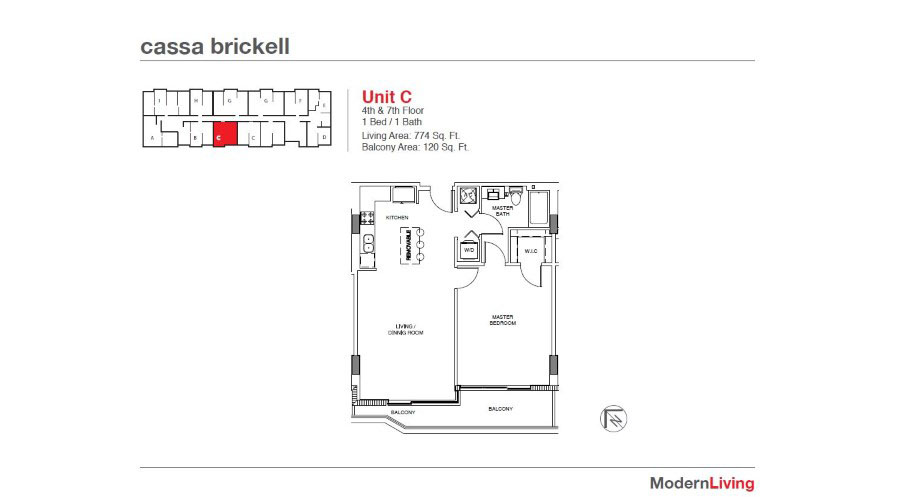 Cassa Brickell - Floorplan 12