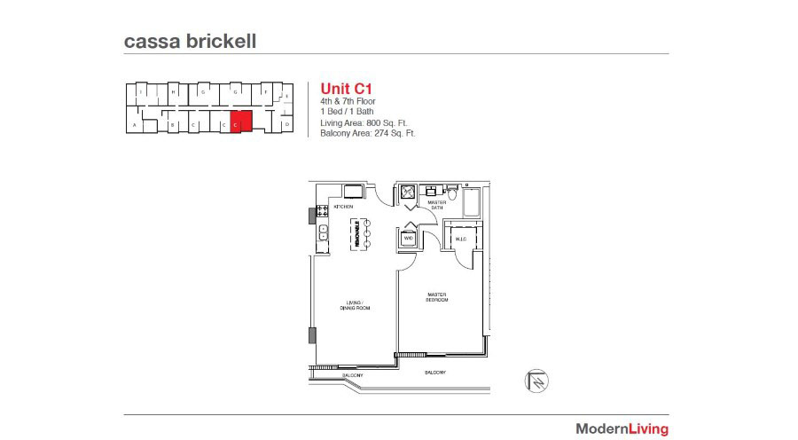 Cassa Brickell - Floorplan 13