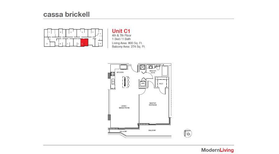 Cassa Brickell - Floorplan 13