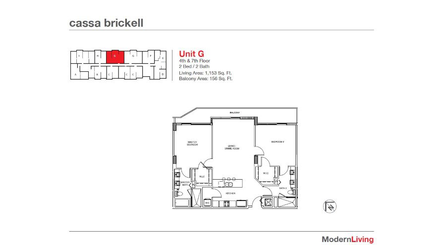 Cassa Brickell - Floorplan 18